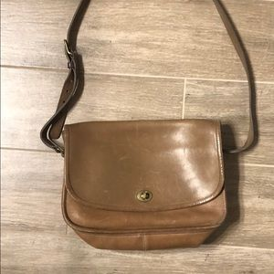 Vintage Leather Coach large purse